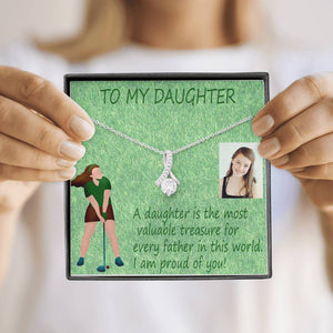 Gift For You Love Daughter Trendy Necklace Best Jewelry High Quality Handmade W/T Customize Card