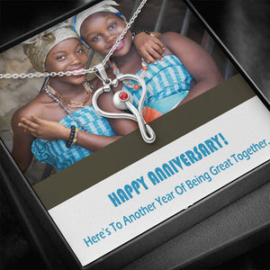 Gift Anniversary Cheer Best Jewelry Trendy Necklace Crystal Pendant Oxidized W/T Card Handmade