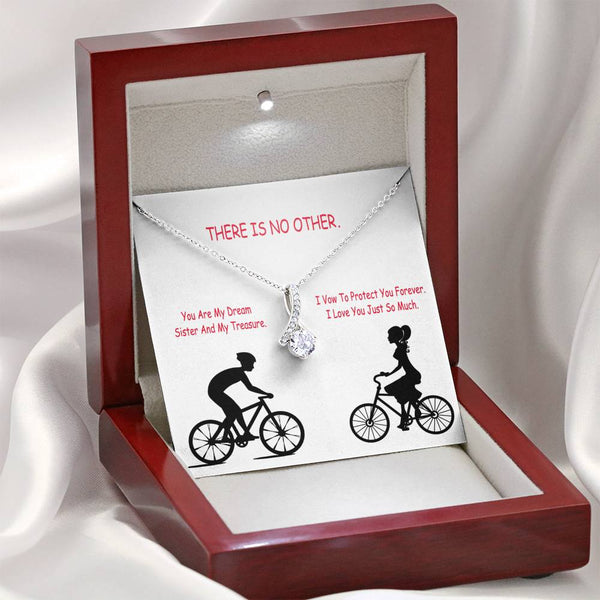 Love Jewelry Sweetheart Necklace 14k White Gold Plated Handmade USA Romance Gift With Cute Card