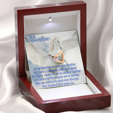 Our Anniversary Gift Perfect Jewelry Necklace For Wife Cubic Zirconia Stones W/T Greeting Card