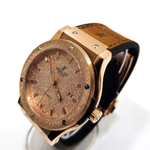 Hublot studded mens designer watch | Brown
