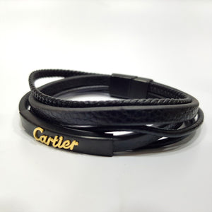 mens leather bracelets braided woven
