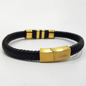 mens leather bracelets woven