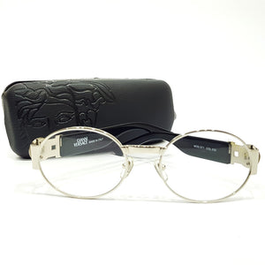 Versace rounded transparent mens sunglasses | Silver