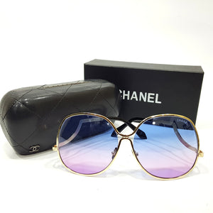 Channel tinted bold designer sunglasses