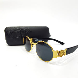 Versace rounded mens sunglasses | Black