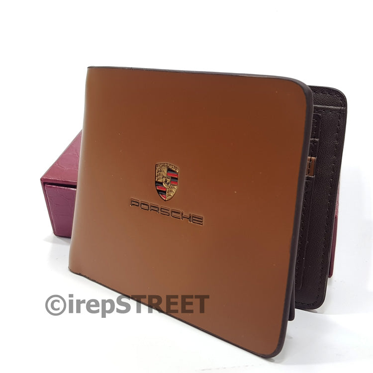 Porsche slim wallets for men, leather purse
