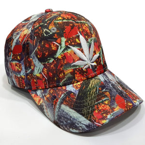 Printed baseball Cap | Red