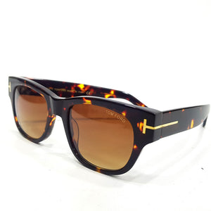 Tomford tinted leopard sunglasses for men |Brown