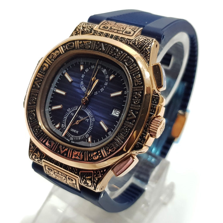 TAG Heuer chronograph mens rubber strap watch | Blue