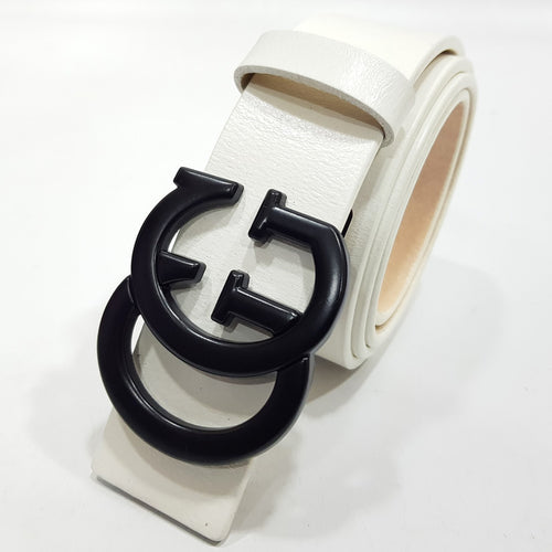 Gucci Mens Leather Belt | White