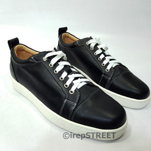 Louboutin leather sneakers | Black