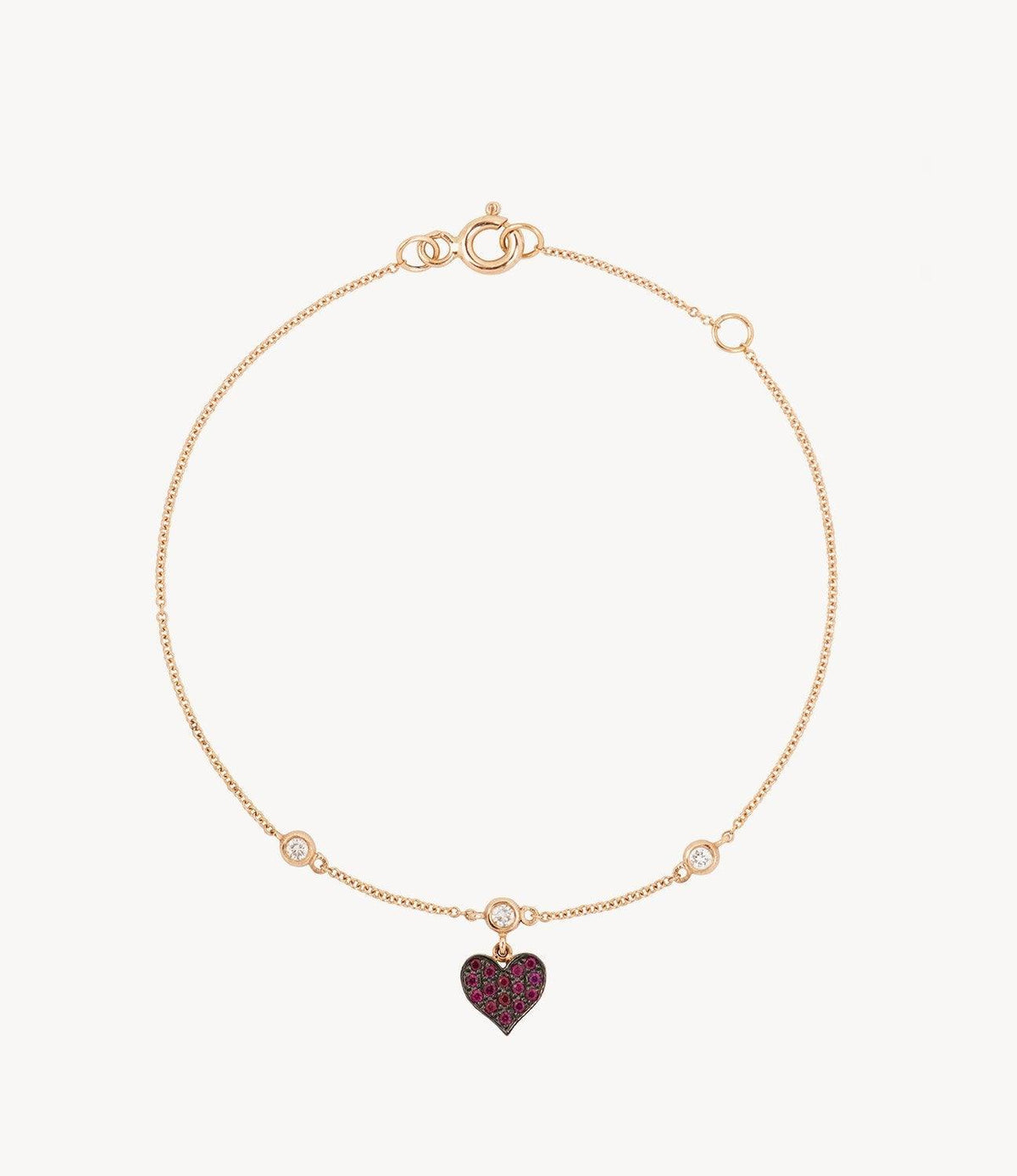 Mini Ruby Heart Bracelet