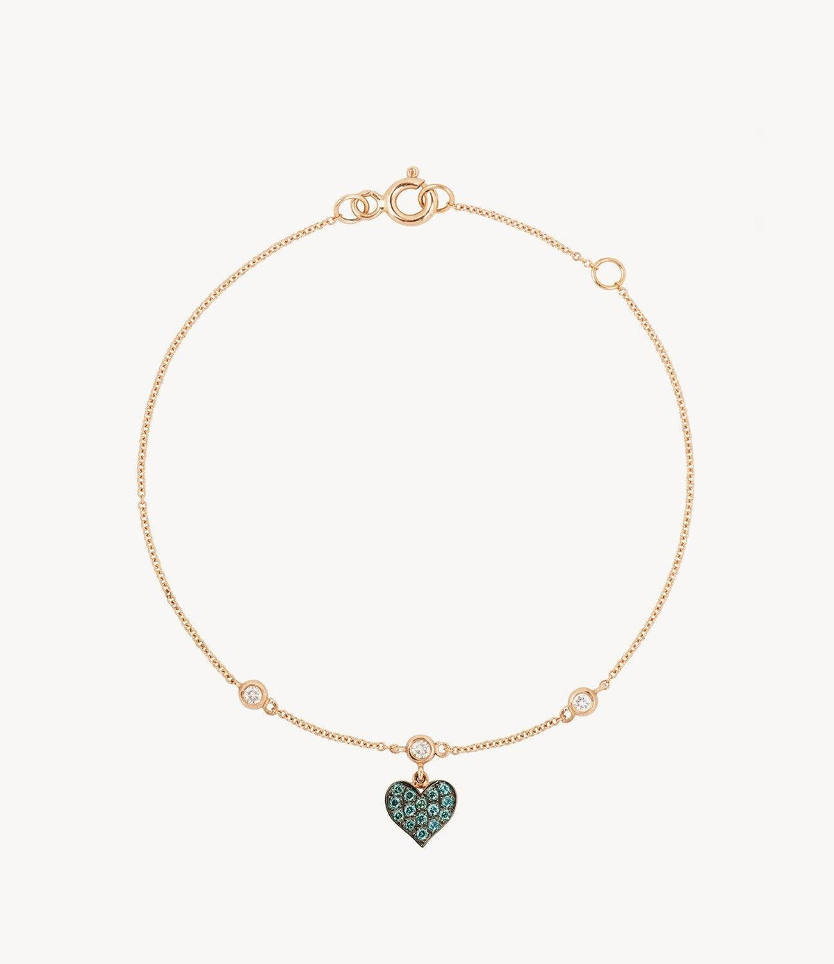 Blue Diamond Heart Bracelet