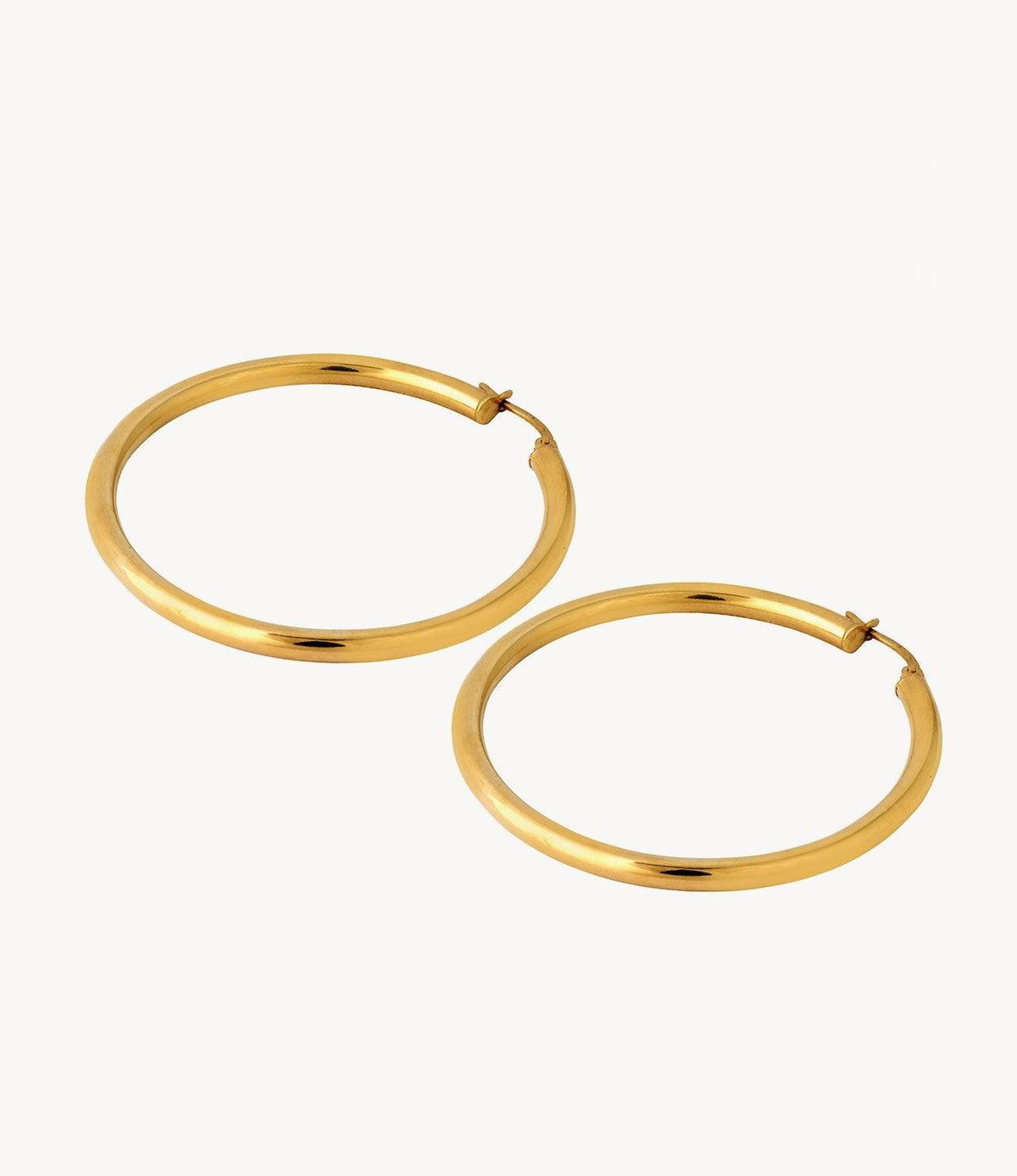 Large Classic Slim Gold Hoops