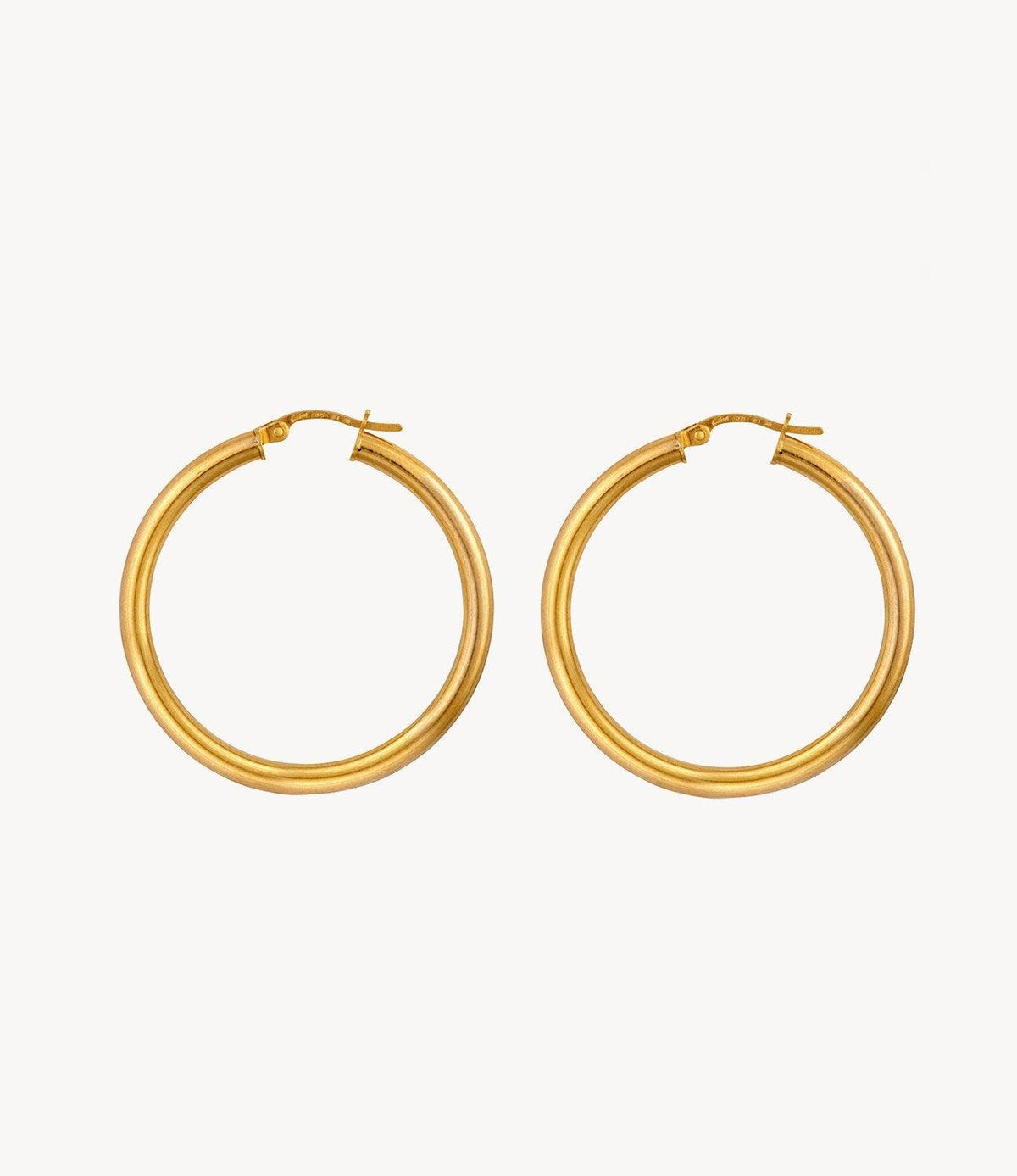Medium Slim Gold Hoops