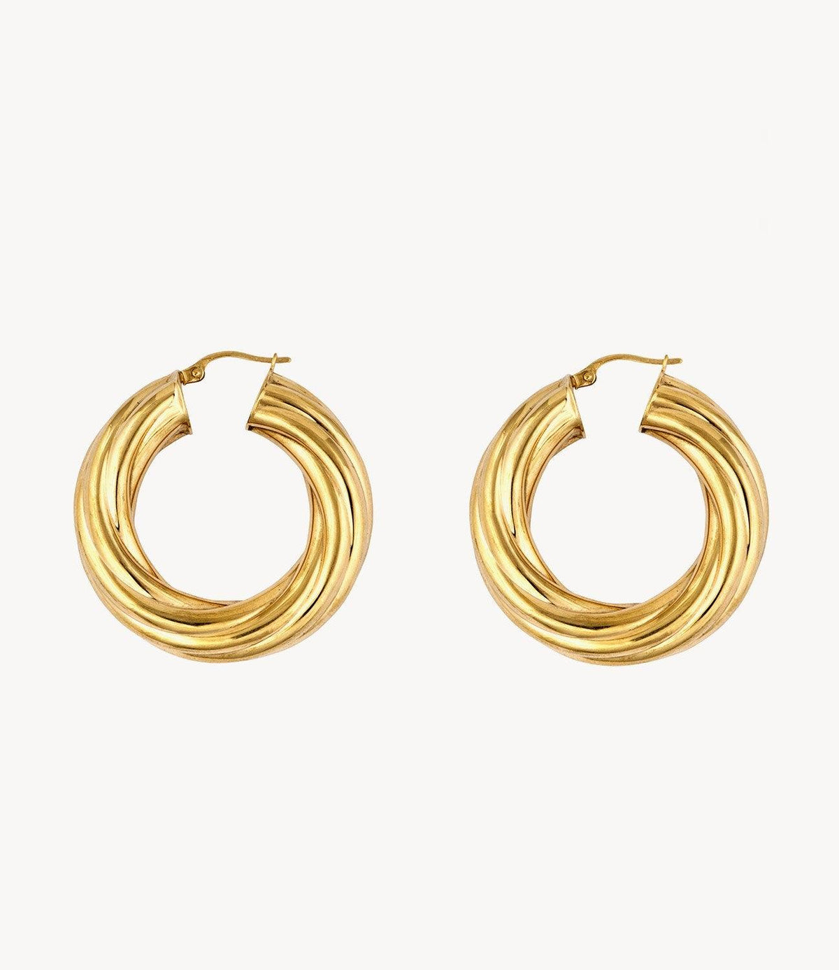 The Small Janet, Gold Retro Hoops