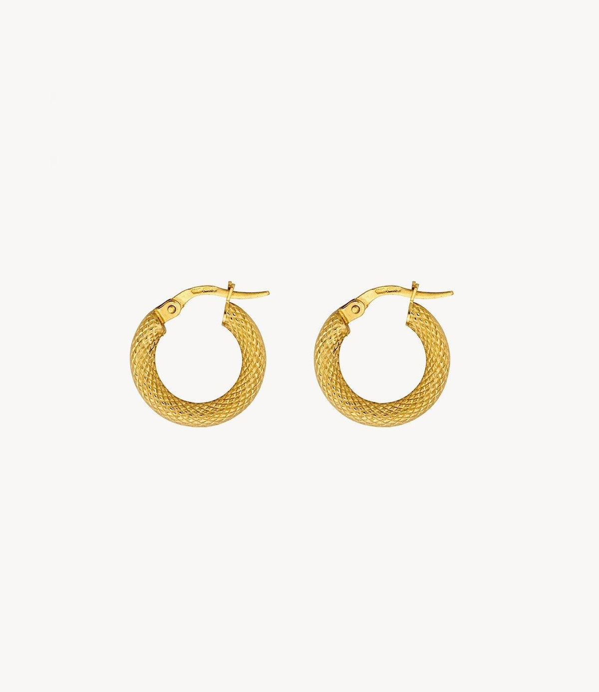 Small Gold Snake Hoops