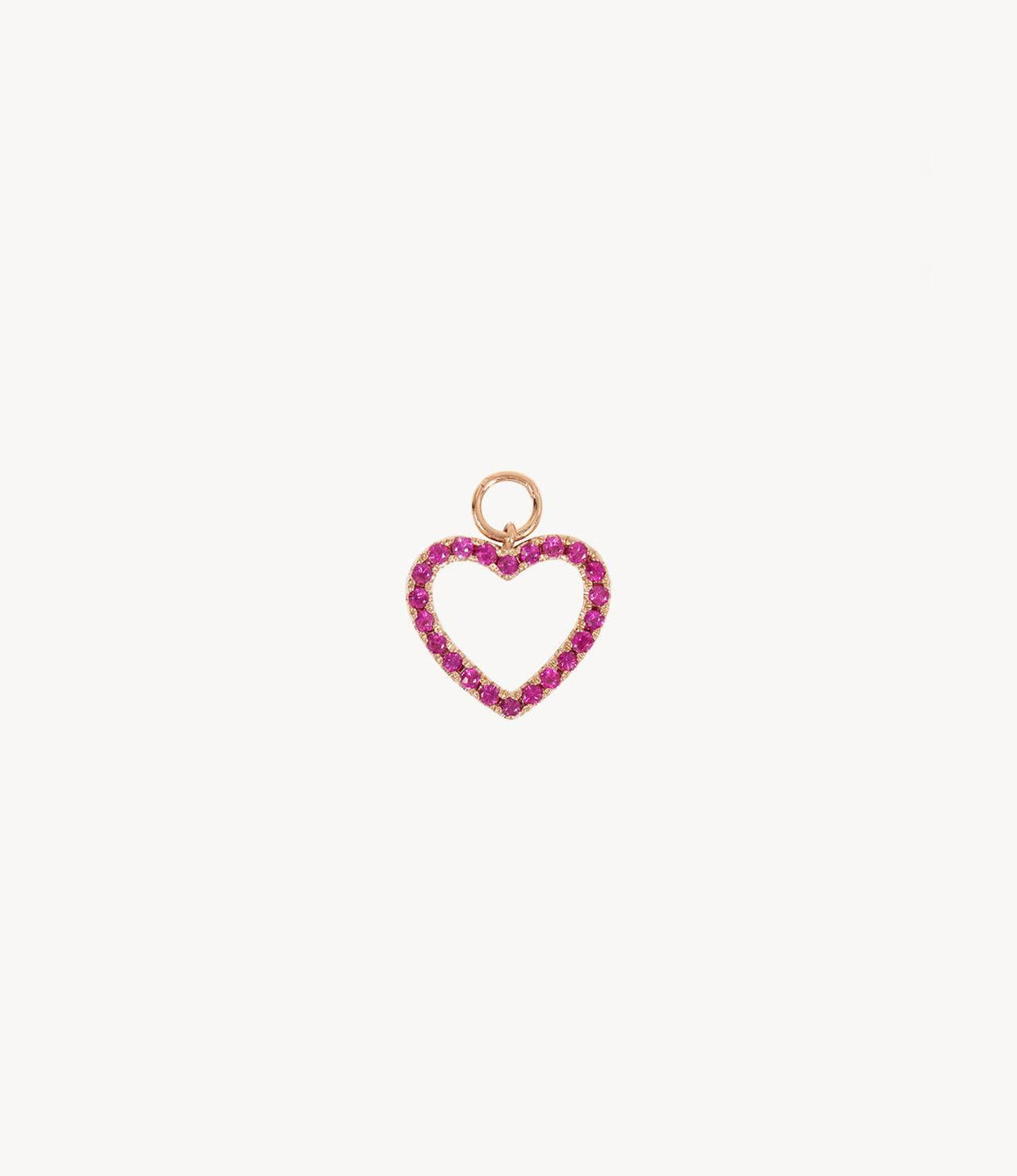 Joanie's Pink Sapphire Heart Dangly