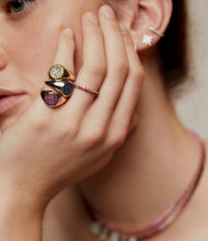 Load image into Gallery viewer, Pink Sapphire Signet Ring