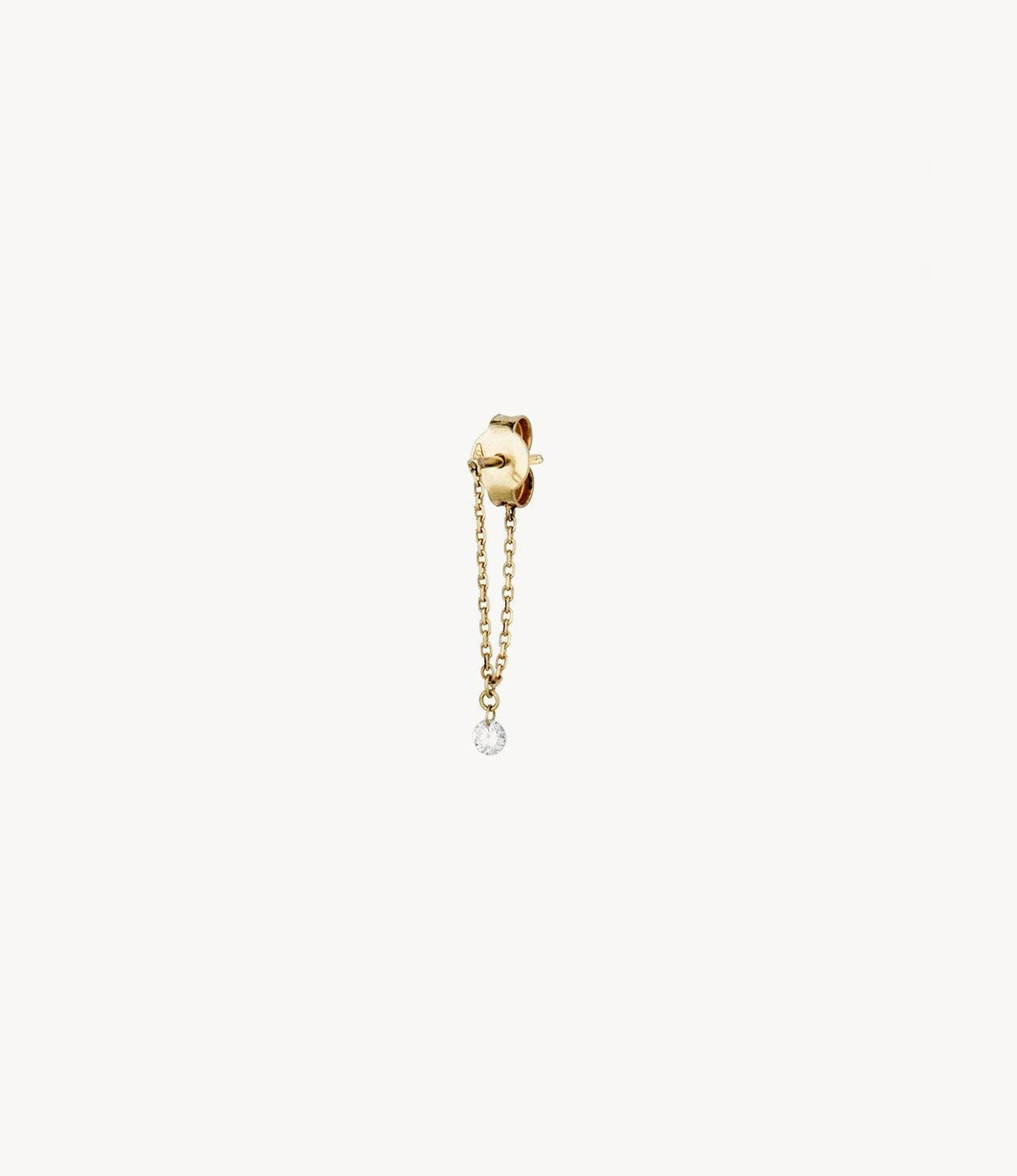 The Maggie, Drilled Diamond Drop Earring