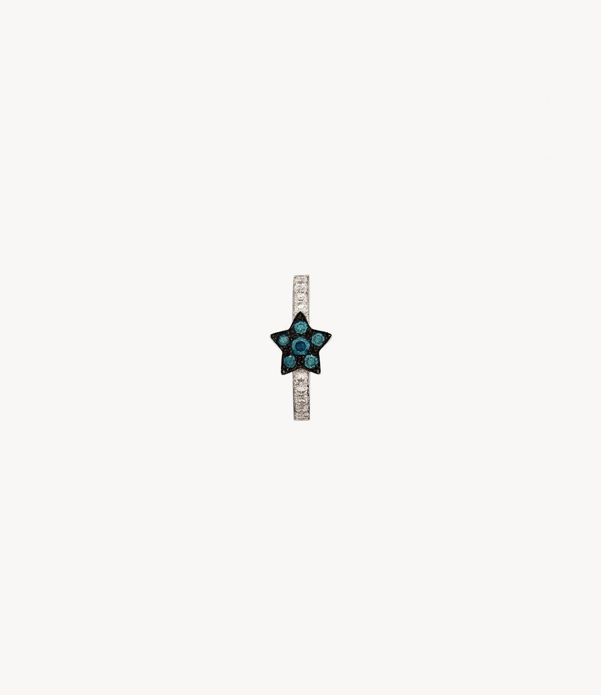 Blue Star Diamond Hoop