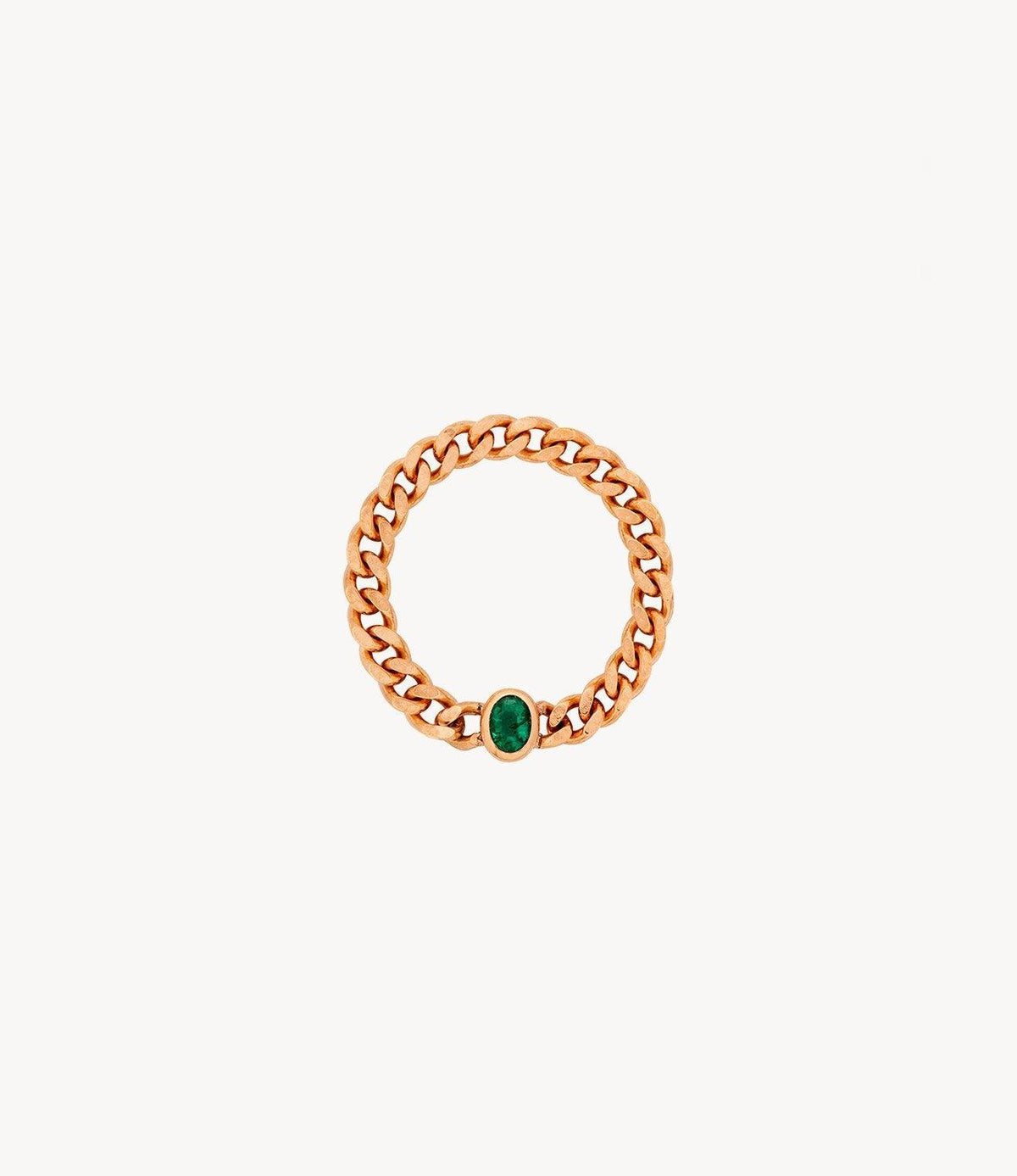 Green Emerald Chain Ring