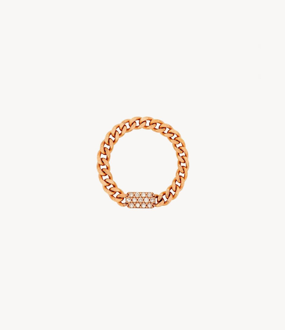 Mini Diamond Bar Chain Ring