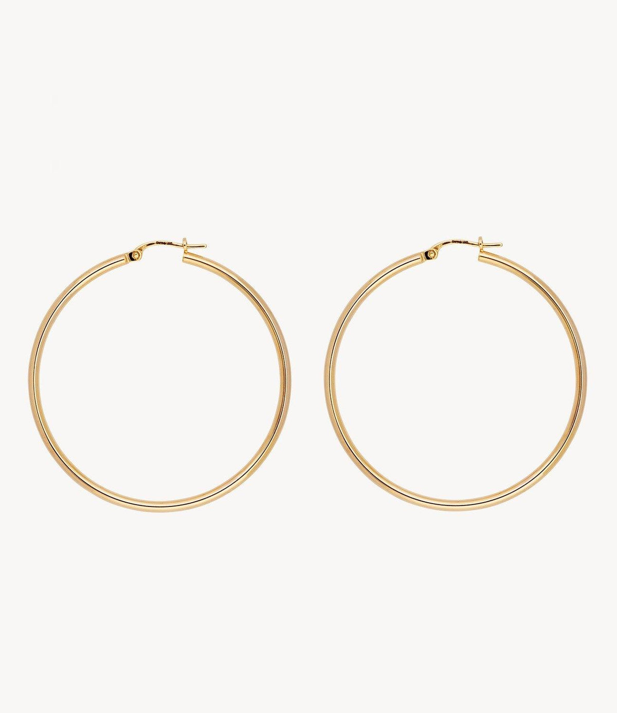 Large Spaghetti Gold Hoops