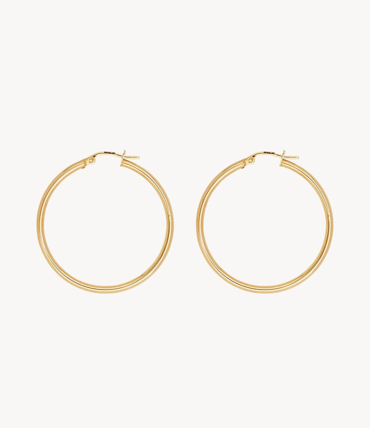 Medium Spaghetti Gold Hoops