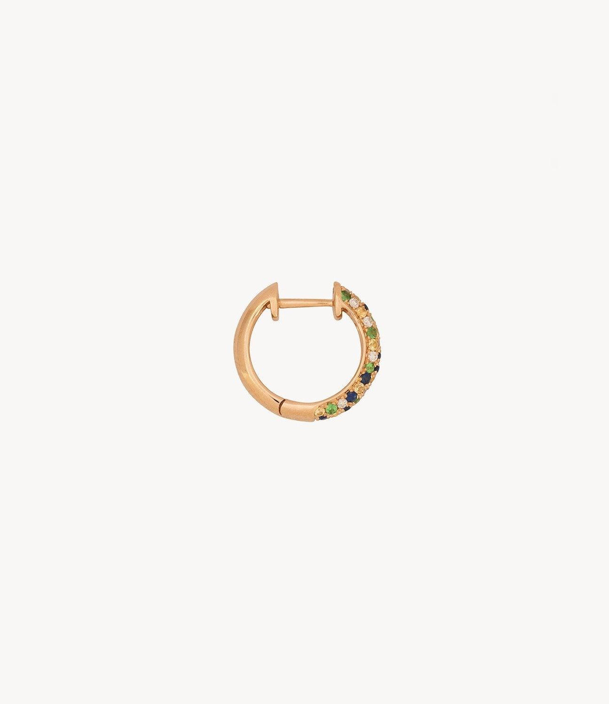 Green Speckled Hoops