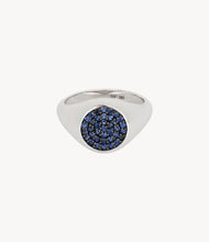 Load image into Gallery viewer, Blue Sapphire Signet Ring