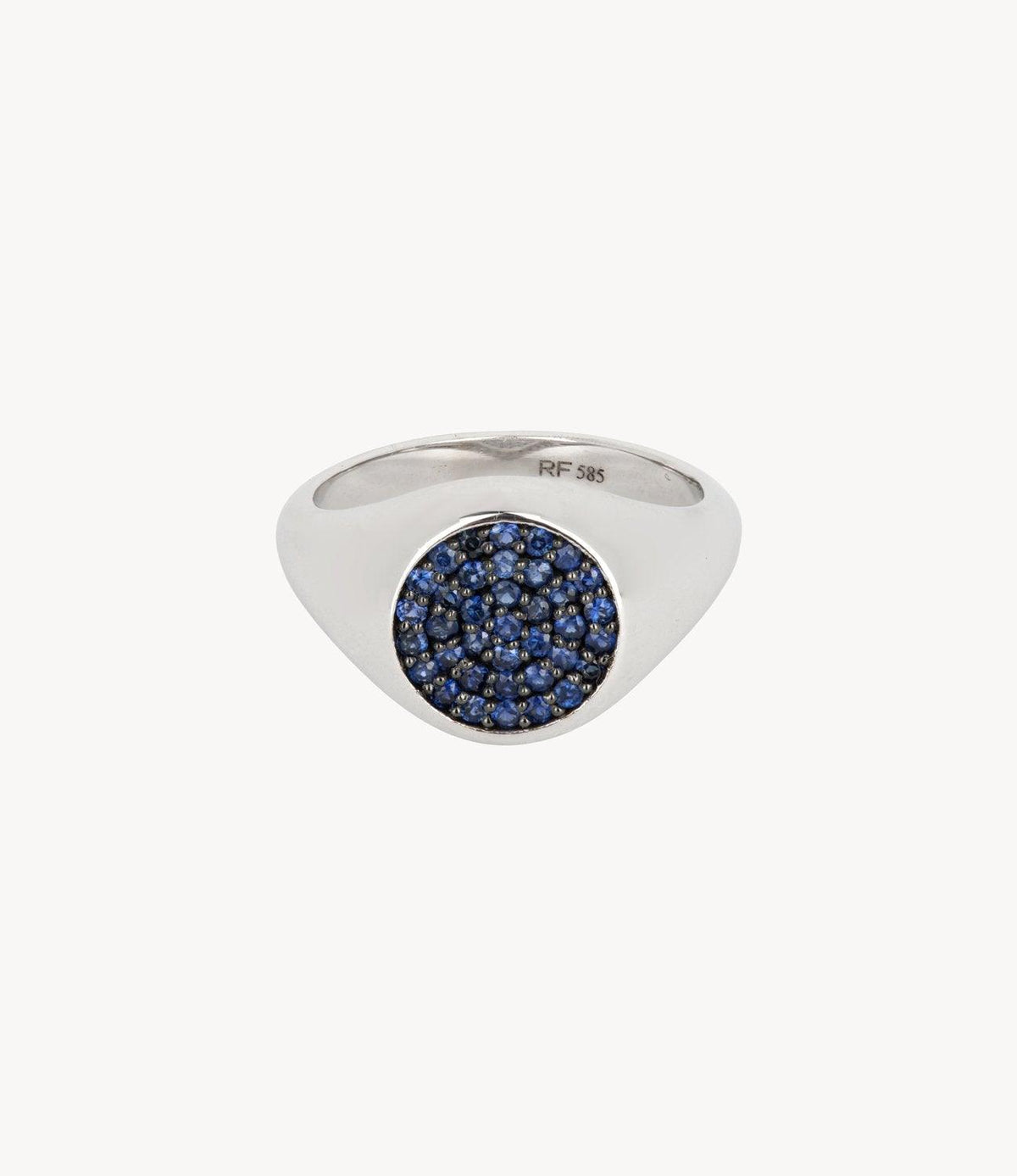 Blue Sapphire Signet Ring