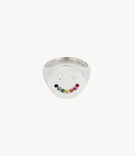 Load image into Gallery viewer, Rainbow Smiley Signet Ring