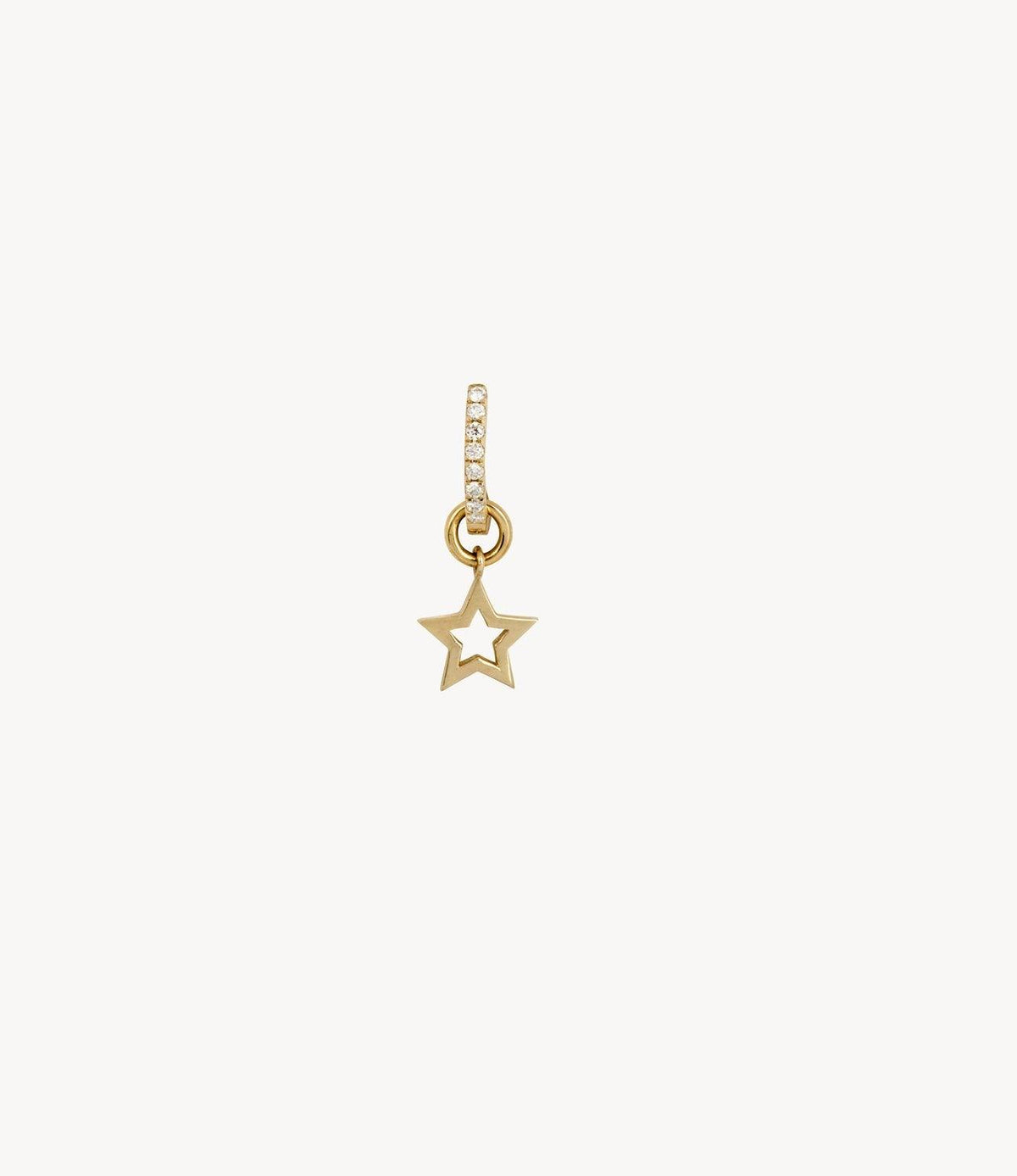 Solid Gold Star Dangle