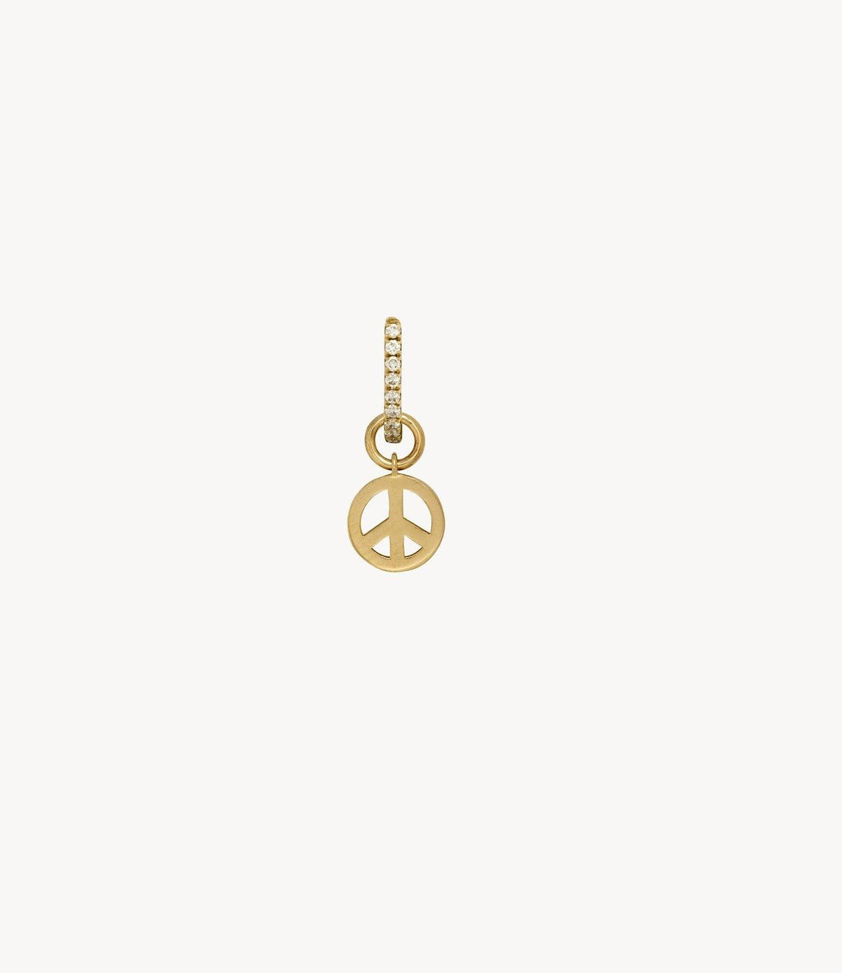 Gold Peace Dangly