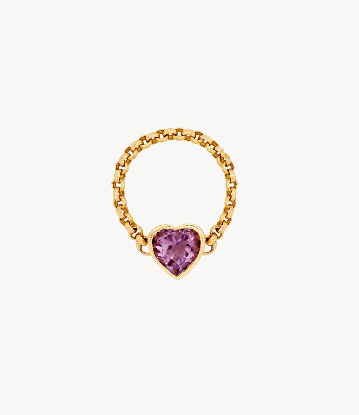 Violet Love Heart Ring