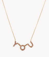 Load image into Gallery viewer, Rose Gold, Chunky Diamond Letter Necklace