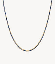 Load image into Gallery viewer, Blue Sapphire Tennis Necklace