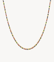 Load image into Gallery viewer, Rainbow Sapphire Tennis Necklace