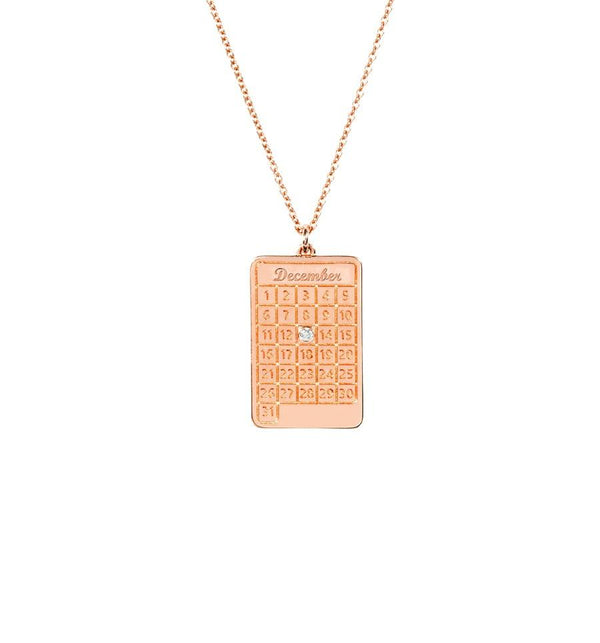 Rose Gold Diamond Days Necklace - old