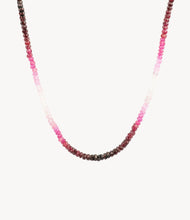 Load image into Gallery viewer, Graduated Pink Sapphire Necklace