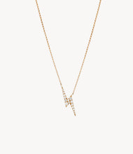 Load image into Gallery viewer, Harry's Diamond Lightning Bolt Necklace
