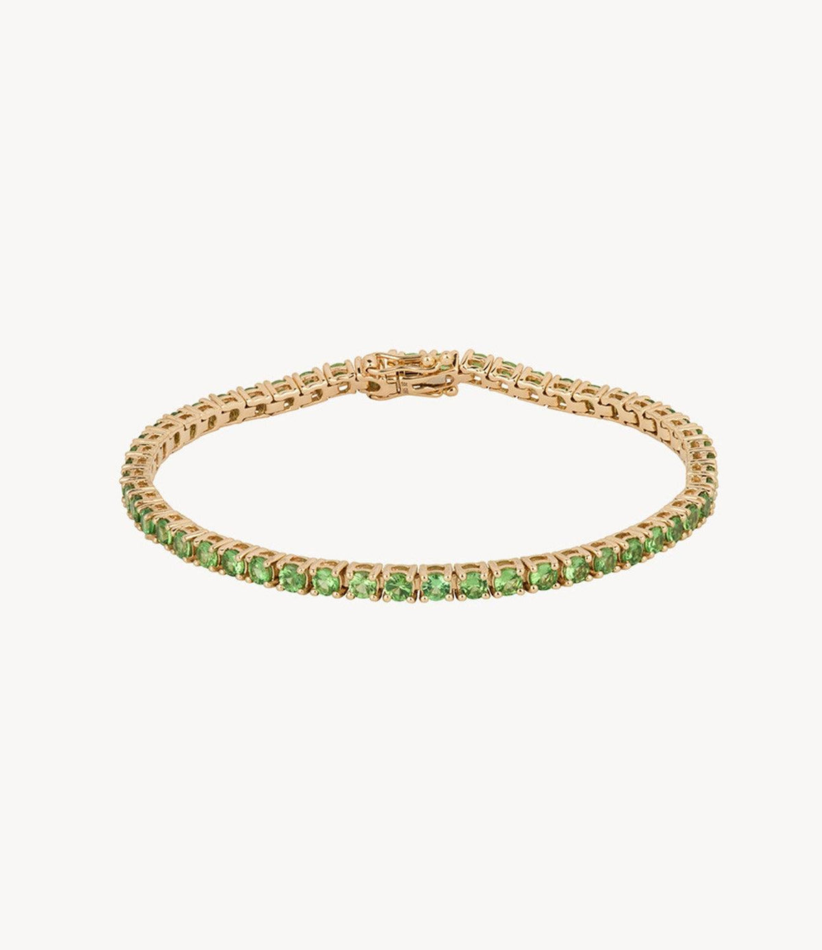 Thicc Green Garnet Tennis Bracelet