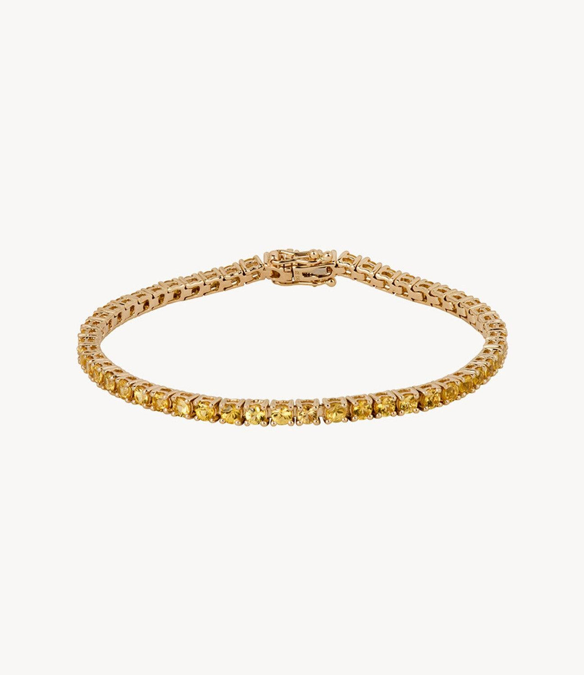 Thicc Yellow Sapphire Tennis Bracelet