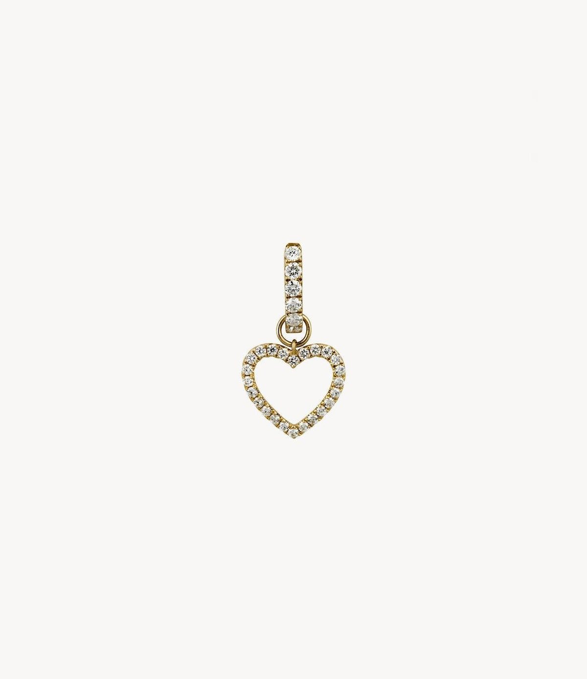 Joanie's Diamond Heart Dangly