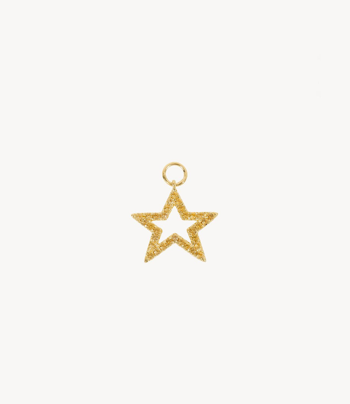 Yellow Sapphire Star Dangly