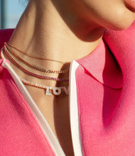 Load image into Gallery viewer, Pink Sapphire Tennis Necklace