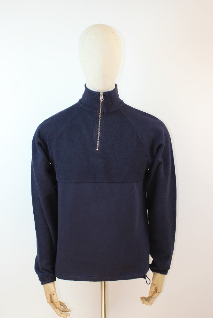 Les Basics Le Zip Sweat - Navy