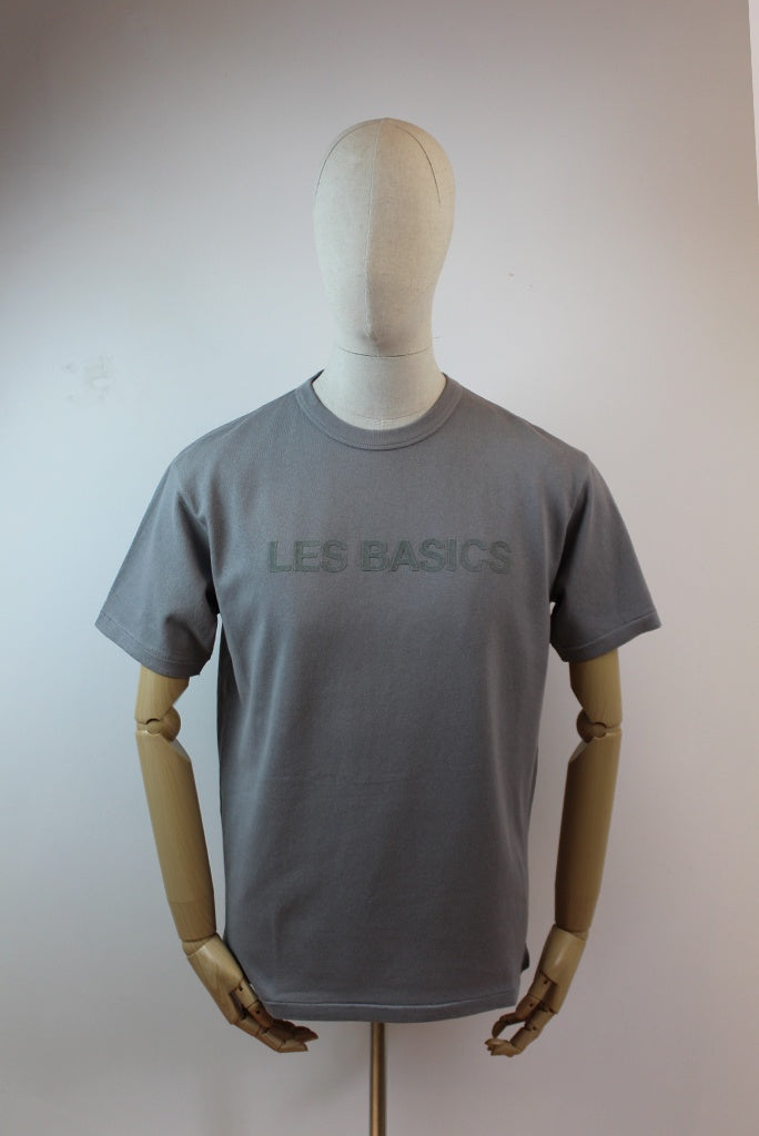 Les Basics Le Crew Branded T-Shirt - Grey
